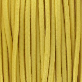 Rounded elastic thread 2,5 mm - yellow