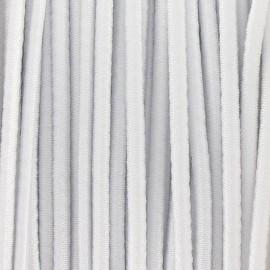 Fil élastique rond 2.5 mm blanc