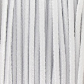 Rounded elastic thread 2,5 mm - white
