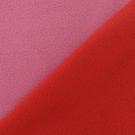 Tissu Polaire bicolore V2 rouge / rose x 10cm