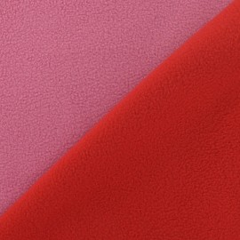 Bicolor V2 Polar Fabric - red / pink x 10cm