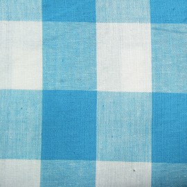 Vichy très grands carreaux bleu