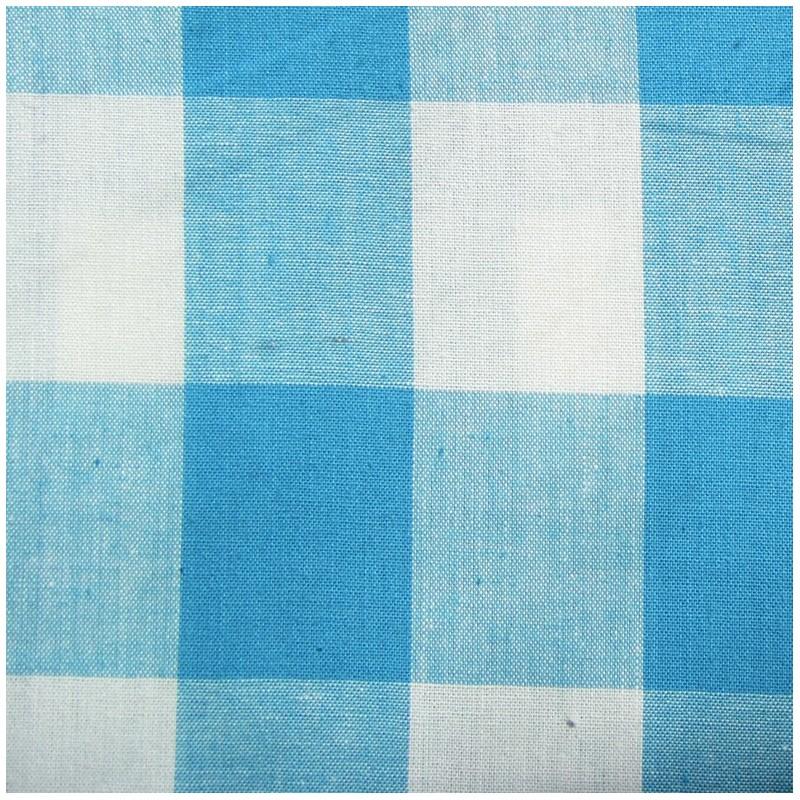 tissu vichy tr s grands carreaux bleu x 10cm ma petite. Black Bedroom Furniture Sets. Home Design Ideas