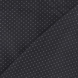 Tissu velours milleraies mini pois gris x 10cm