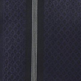 Tissu Torchon Saint Laurent noir/marine x 10cm