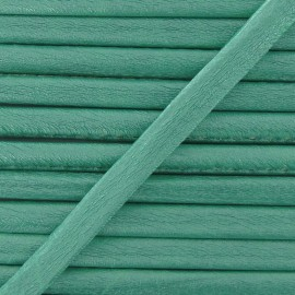 Cordon simili cuir métallisé vert menthe
