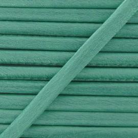 Imitation leather cord, metallic - mint