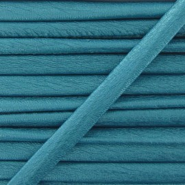 Cordon simili cuir métallisé turquoise