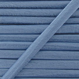 Cordon simili cuir métallisé bleu ciel