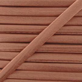 Cordon simili cuir métallisé cuivre