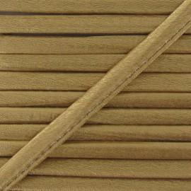 Cordon simili cuir métallisé or jaune