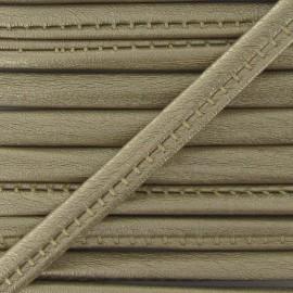 Imitation leather cord, metallic - gold