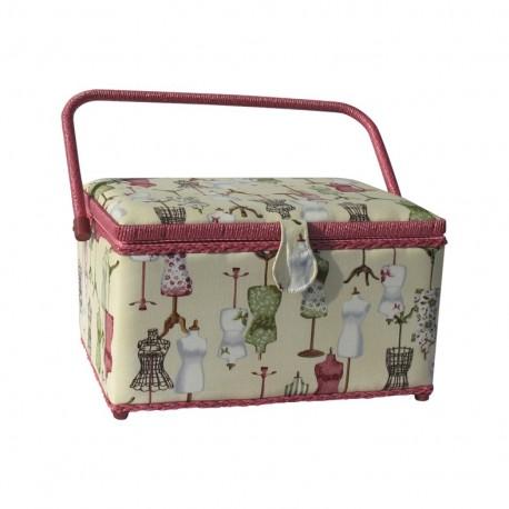 bo te couture rectangle buste rose ma petite mercerie. Black Bedroom Furniture Sets. Home Design Ideas