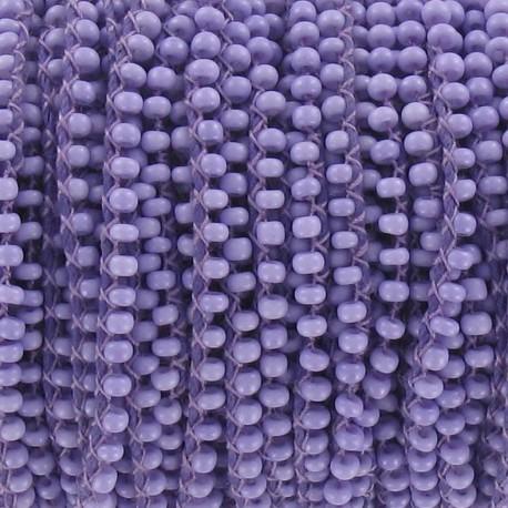 Glass Rocaille beads on thread - mauve