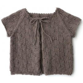 """Cardigan Aloha"" in sizes 2/4/6 and 8 years old, from de Kids Tricots - taupe"
