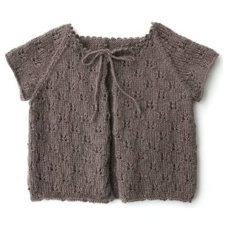 Cardigan Aloha in sizes 2/4/6 and 8 years old, from de Kids Tricots - taupe