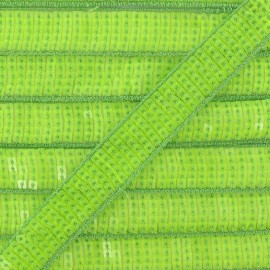 Sequins braid trimming x 50 cm - fluorescent green