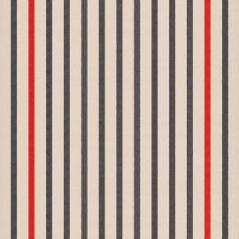 Tissu toile transat Marin Écru/Noir (43cm) x 10cm