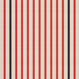 Tissu toile transat Marin Écru/Tomette (43cm) x 10cm