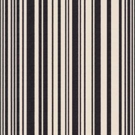 Tissu toile transat Tom Noir/Écru (43cm) x 10cm