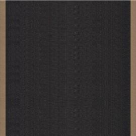 Tissu toile transat Uni Noir/Bord Taupe (43cm) x 10cm
