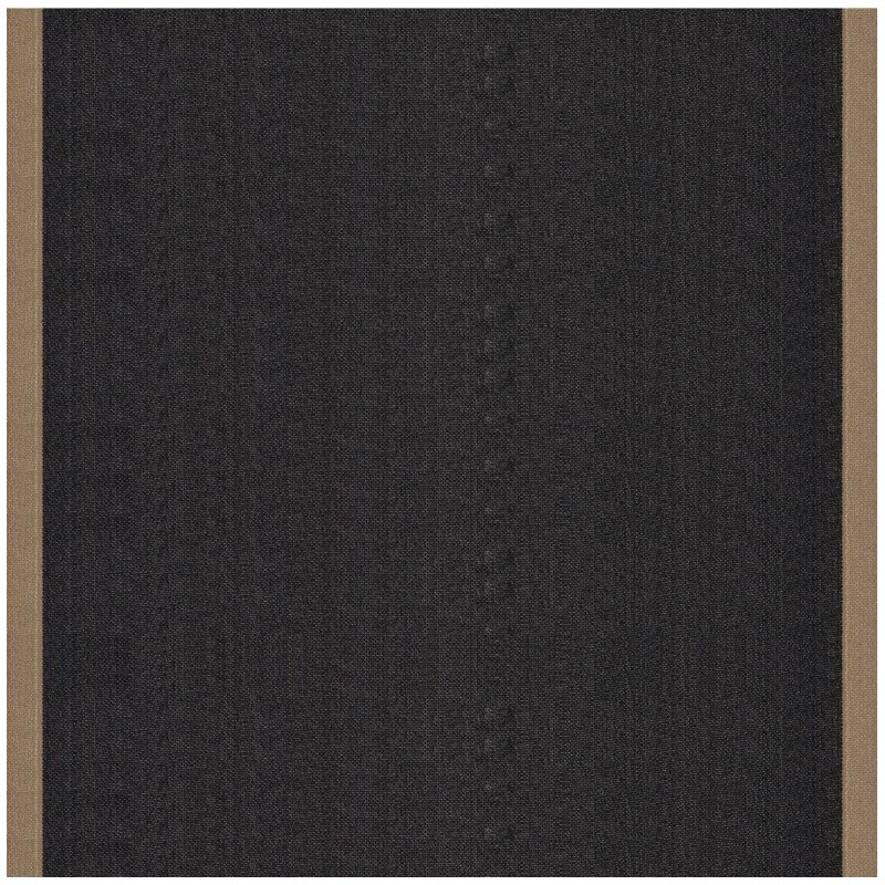 tissu toile transat uni noir bord taupe 43cm x 10cm ma. Black Bedroom Furniture Sets. Home Design Ideas