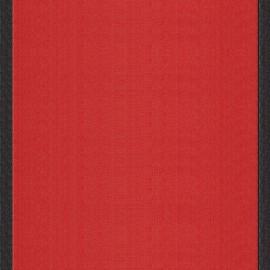 Deckchair Canvas Fabric - Tomette/Black border (43cm) x 10cm