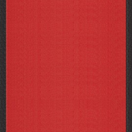 Tissu toile transat Uni Tomette/Bord Noir (43cm) x 10cm