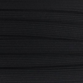 Élastique plat tissé noir 5 mm