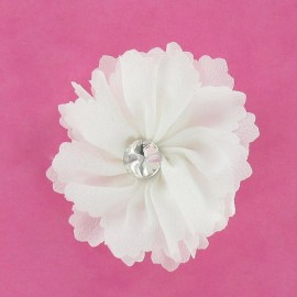 Medium Flower brooch - white