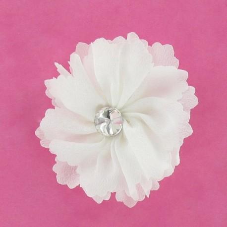 Broche Fleur moyenne blanche