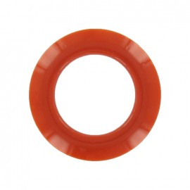 Plastic Eyelet to clip - orange