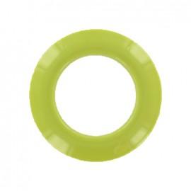 Oeillet à clipper plastique rond Vert pistache
