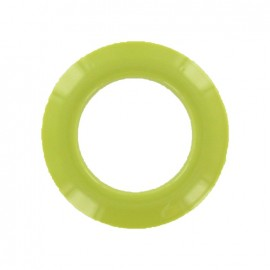 Plastic Eyelet to clip - pistachio green