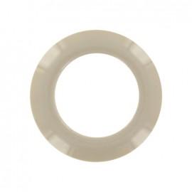 Plastic Eyelet to clip - linen