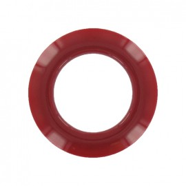 Plastic Eyelet to clip - cherry
