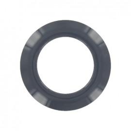 Plastic Eyelet to clip - grey