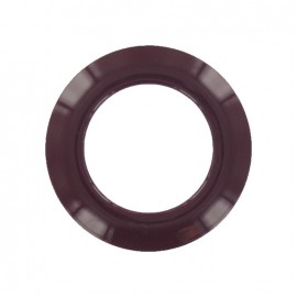 Plastic Eyelet to clip - dark purple