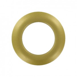 Plastic Eyelet to clip - golden metallic