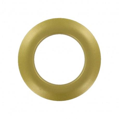 Plastic Eyelet to clip - golden metallic