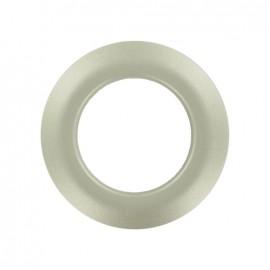 Oeillet à clipper plastique rond métallisé Light silver