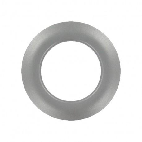 Oeillet à clipper plastique rond métallisé Dark silver
