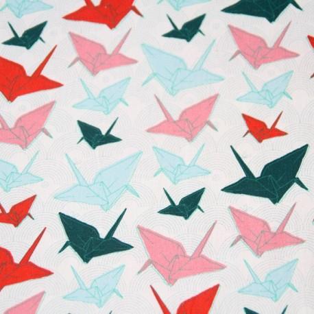 Origami Poplin Fabric - White x 10cm