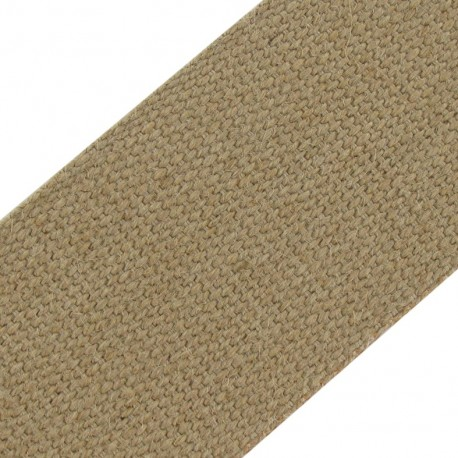 Jute strap ribbon  85 mm - brown