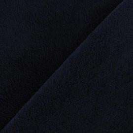 Tissu Doudou uni bleu nuit x10cm