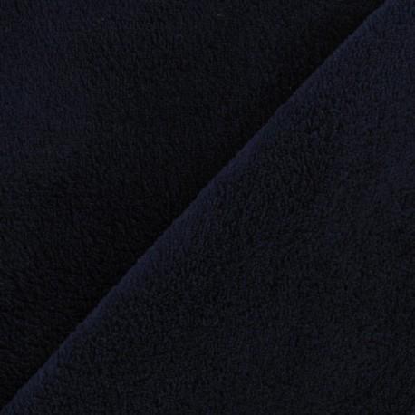 Tissu Doudou bleu nuit x10cm