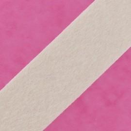 ♥ Coupon 130 cm ♥ Short-haired Fur Ribbon 50mm - Ecru