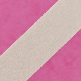 Short-haired Fur Ribbon 50mm - Ecru