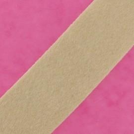 Ruban fourrure poil ras 50mm beige clair × 1M