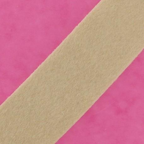 Short-haired Fur Ribbon 50mm - Light Beige